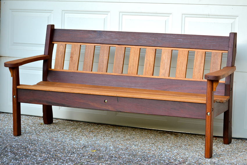 wooden bench garden ideas front benches landscaping outdoor homemade yard